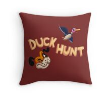 The Duck Hunt Show Throw Pillow