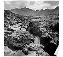 The Fairy Pools, Glen Brittle, No 1 (mono version) Poster