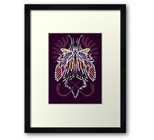 Mab the Queen of Fey (bold white and pale purple) Framed Print