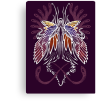 Mab the Queen of Fey (bold white and pale purple) Canvas Print