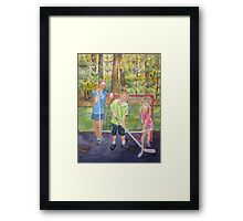 The Puck Stops Here Framed Print