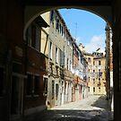 Quiet in Arsenale, Venice by hans p olsen