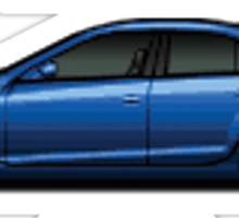 Pixel Cars - Cadillac CTS Sticker
