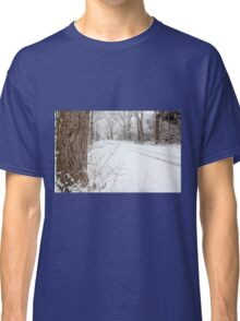 Snowy Country Road Classic T-Shirt