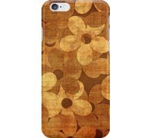 Grunge floral card iPhone Case/Skin