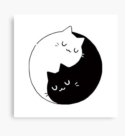 Yin Yang Cats Kittens Canvas Print