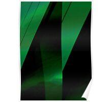 green leaf folds Poster