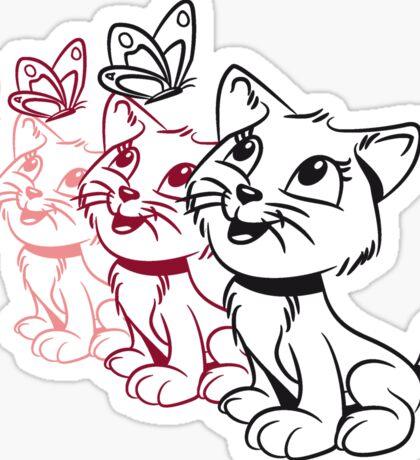Katze baby süss lieb schmetterling design  Sticker