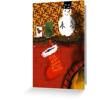 Waiting for Santa... Greeting Card