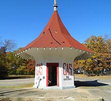 Weird Gas Station by WildestArt