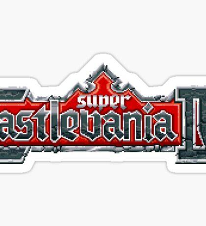 Super Castlevania IV (SNES Title Screen) Sticker