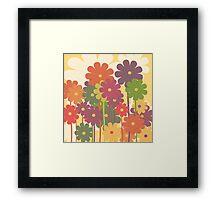 floral background Framed Print