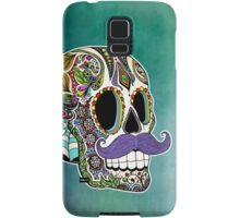 Mustache Sugar Skull (Color Version) Samsung Galaxy Case/Skin