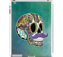 Mustache Sugar Skull (Color Version) iPad Case/Skin
