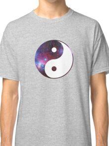 Ying and yang galaxy Classic T-Shirt