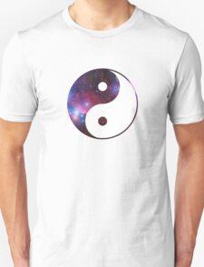 Ying and yang galaxy Unisex T-Shirt
