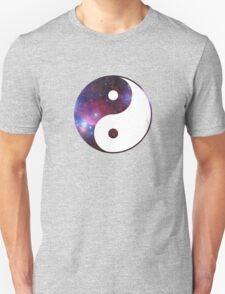 Ying and yang galaxy Unisex T-Shirt