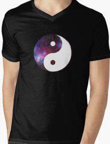 Ying and yang galaxy Mens V-Neck T-Shirt