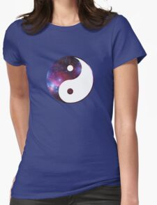 Ying and yang galaxy Womens Fitted T-Shirt