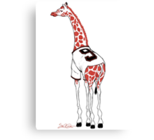 Belt Giraffe (Textless) Canvas Print