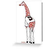 Belt Giraffe (Textless) Greeting Card