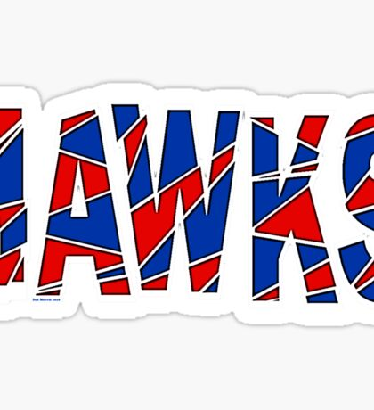 Hawks Font Sticker