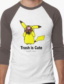 Trash is cute Men's Baseball ¾ T-Shirt