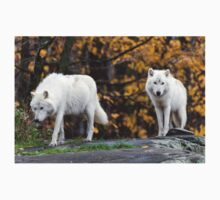 Pair of Arctic Wolves in fall T-Shirt