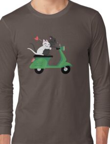 Scooter Cats Long Sleeve T-Shirt