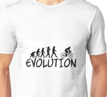 Cycling Evolution - Funny Design Cyclist Unisex T-Shirt