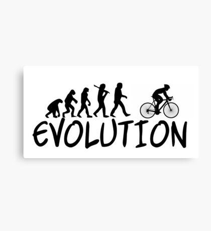 Cycling Evolution - Funny Design Cyclist Canvas Print