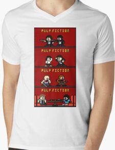 Mega Pulp Fiction Mens V-Neck T-Shirt
