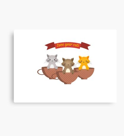 Cute cats Canvas Print