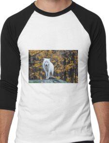 Arctic Wolf - Parc Omega, Quebec Men's Baseball ¾ T-Shirt