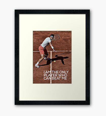Rafael Nadal poster Framed Print