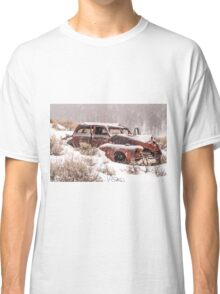 Auto in Snowstorm Classic T-Shirt