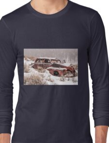 Auto in Snowstorm Long Sleeve T-Shirt