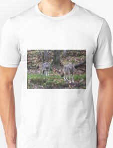 Pair of coyotes in a forest T-Shirt