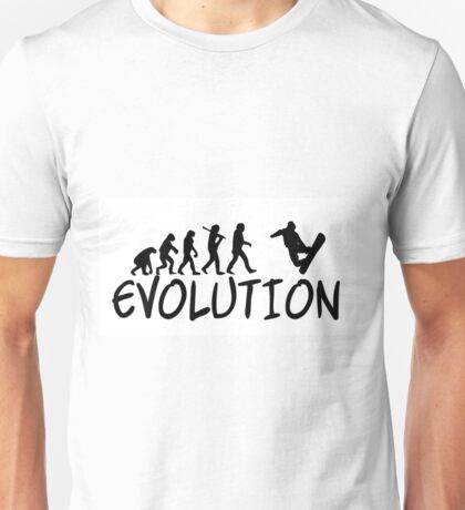 Snowboard Evolution - Funny design Unisex T-Shirt