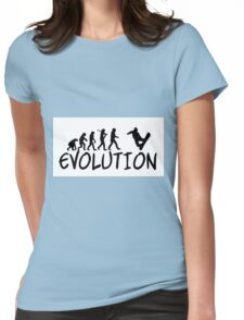 Snowboard Evolution - Funny design Womens Fitted T-Shirt