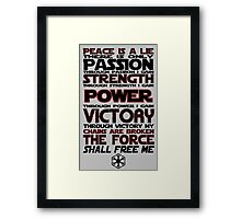 Peace is a LIE! Framed Print
