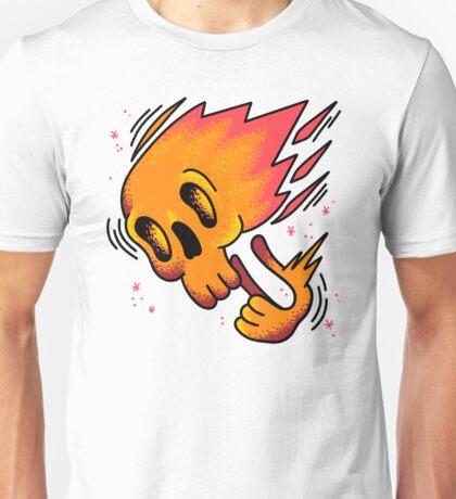 Skull on fire Unisex T-Shirt