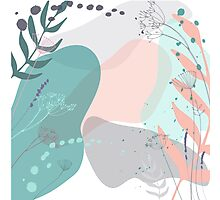 Abstract floral composition Photographic Print