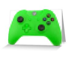 8bit Xbox green console  Greeting Card