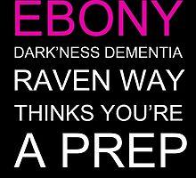 Ebony Dark'ness Dementia Raven Way by margaretmasucci