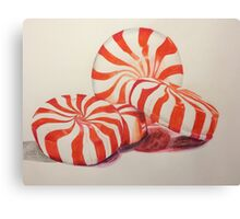 Peppermints Drawing Canvas Print