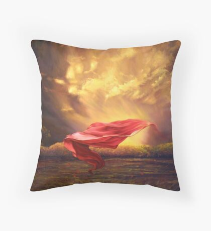 Red Shawl II Throw Pillow