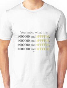 Hexadecimal Black and Yellow Wiz Khalifa  Unisex T-Shirt