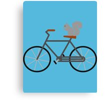 Squirrel Riding Bike Canvas Print