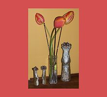 Meerkat Family enjoying Tulips by TippyToes